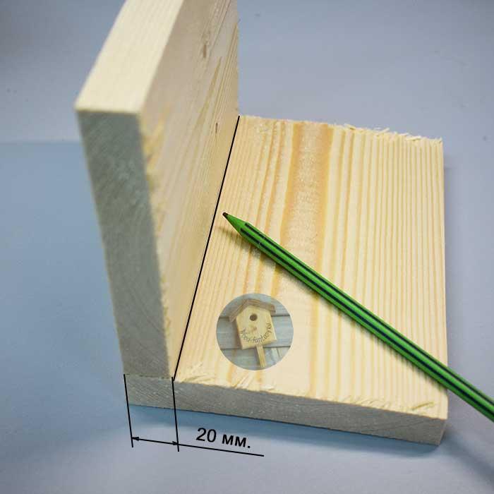 как сделать домик для синиц разметка